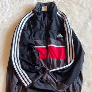 Adidas Track jacket black/red (L)